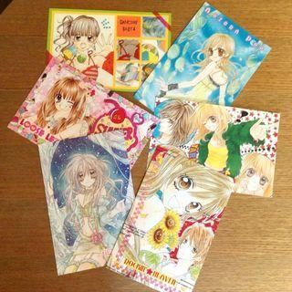 日本RIBON原版少女漫畫月刊附錄明信片組