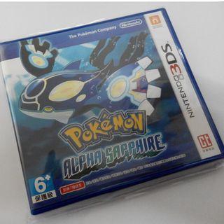 【全新僅拆!】pokemon alpha sapphire 精靈寶可夢 阿爾法藍寶石