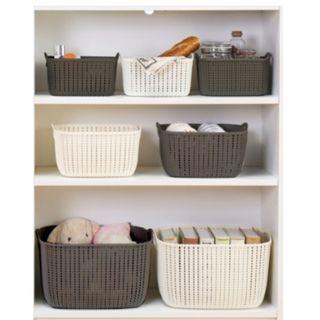 Bundle Of 3 (S) Braided Storage Basket With Handle 100% Virgin PP