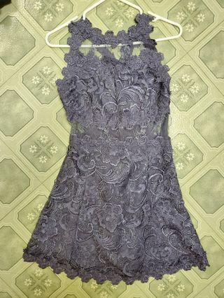 Lace cross back dress