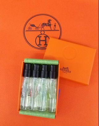 💚新【優惠價數量有限】💝HERMES Perfume 2ml 4支小盒裝 #合共8ml 抵試抵買【優惠除時完,過後回原價】