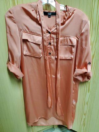 Pearl peach blouse/ dress