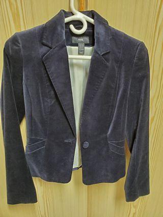 Velvet dark navy blazer