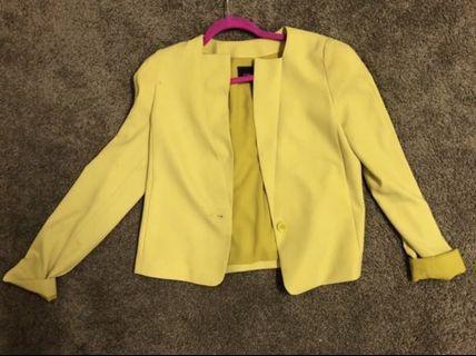 BCBG Max Azria authentic yellow / mustard blazer xs