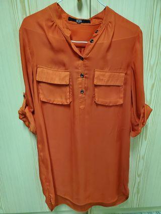 Tangerine blouse/ dress
