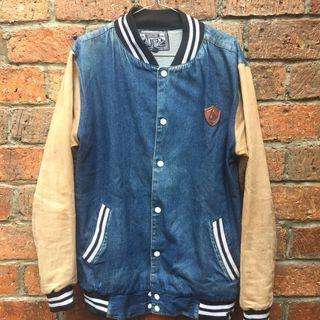 Suicide Anthem Blue/Khaki Varsity/Baseball Jacket