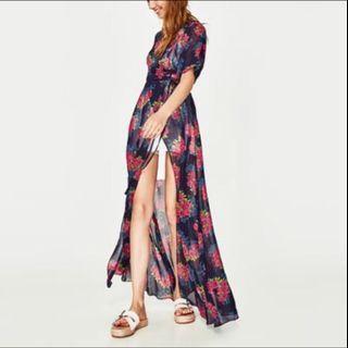 Zara Floral Wrap Dress (New)