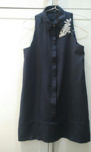 Dress Navy Something Borrowed