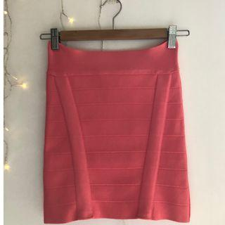 Pink body con skirt