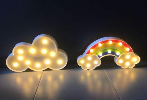 Cloud rainbow marquee light