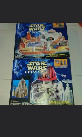 Starwars vintage micromachines space ships star wars city set