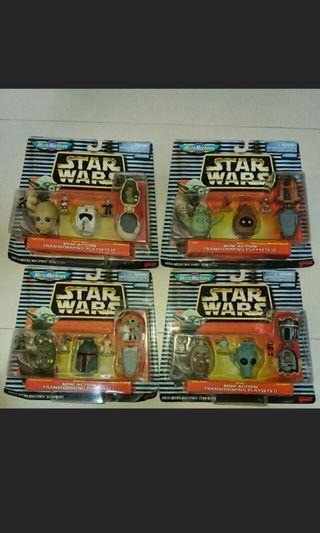 Vintage starwars micromachines head City star wars space