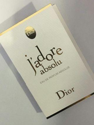 Dior Jadore Absolu Edp Absolue Sample Perfume Women Spray