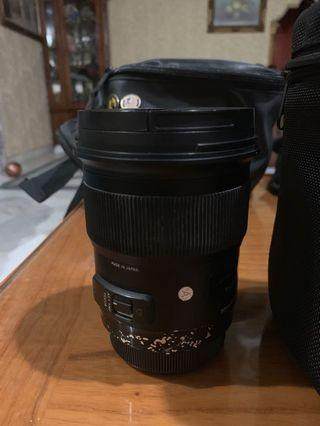 Sigma 50mm F/1.4 Art Lens Canon Mount