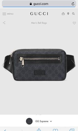 Gucci GG Supreme belt bag (Men's)