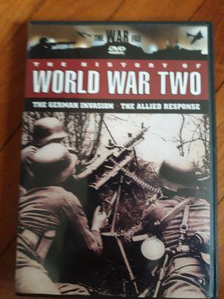 The History of War World II DVD