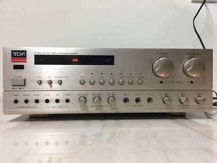 Professional karaoke amplifier 台灣製造 TDF F250G 好唱 好聲音 卡拉OK 綜合擴大機 有自動接唱 行家好選擇 附代用遙控器