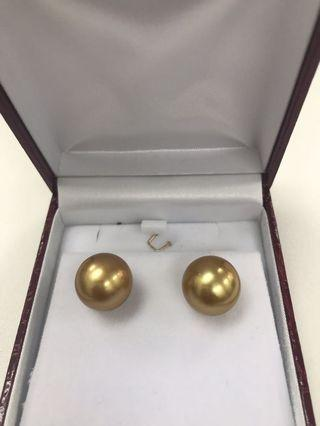 Authentic Golden South Sea Pearl -14.4-14.5 mm