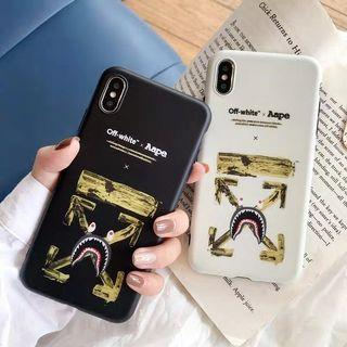 off white x Aape iPhone蘋果手機殼手機軟殼
