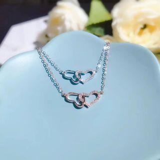 Real 18K gold ❤️❤️ Diamond necklace