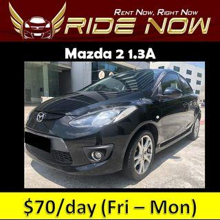 Mazda 2 1.3A - Hatchback Cheap and P Plate Friendly Car Rental