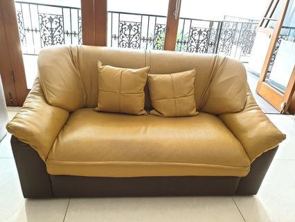 Sofa 2 Seater (kulit asli/genuine leather)