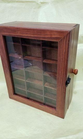 木製飾物擺件櫃 有櫃桶