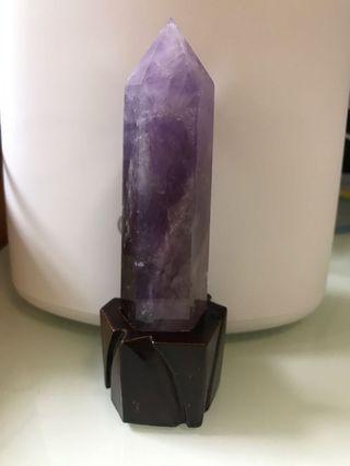 天然紫晶柱
