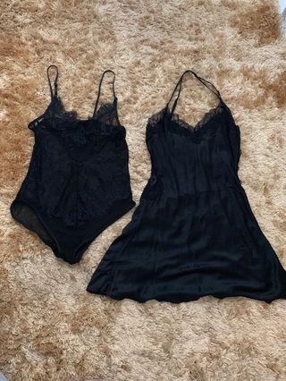 silkypeonis sleepwear & pluffychoice (2 pcs)