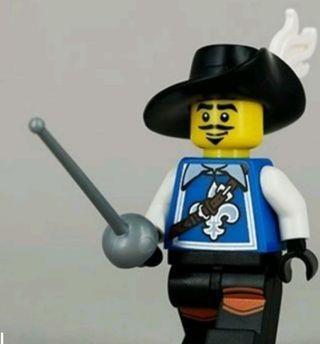 Lego 8804 Series 4 Minifigs Musketeer  連底板 說明書 包裝袋 (全新開袋確認)