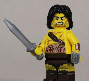 Lego 71002 Series 11 Minifigs Barbarian 野蛮人  連底板 說明書 包裝袋 (全新開袋確認)