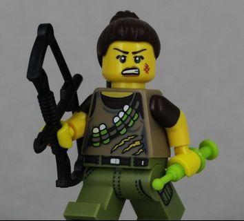 Lego 71007 Series 12 Minifigs Dino Tracker  女戰士 連底板 說明書 包裝袋 (全新開袋確認)