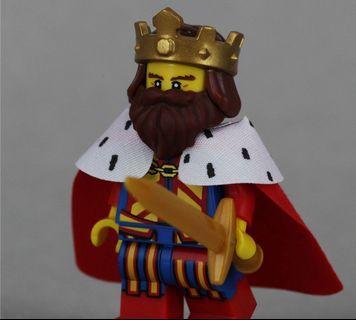 Lego 71008 Series 13 Minifigs Classic King 國皇 連底板 說明書 包裝袋 (全新開袋確認)
