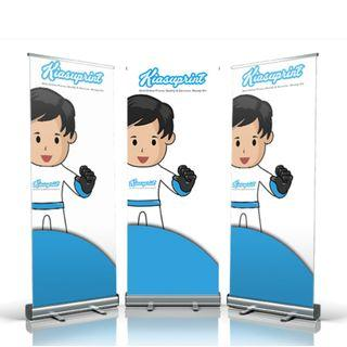 🚚 Roll Up Banner Stand / Pull Up Banner Printing (60cm x 170cm)
