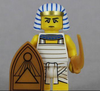 Lego 71008 Series 13 Minifigs Egyptian Warrior 埃圾武士 連底板 說明書 包裝袋 (全新開袋確認)