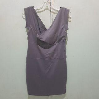Encore Grey Bodycon Dress Stretchy M