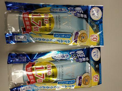 全新日本購入Biore 50(85g)度防層曬乳液