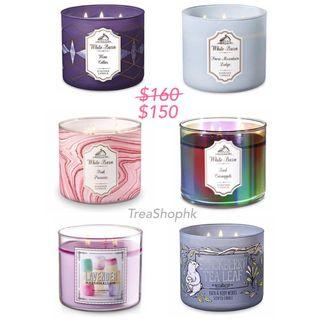 特價bath and body works 3-wick candles