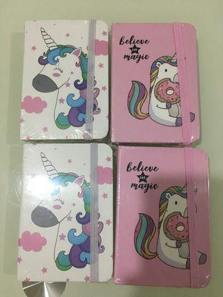 🚚 Small Notebook with Unicorn Design