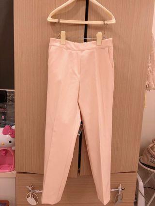 降 全新 韓貨 跟韓貨賣家SLC買的杏色西裝褲 挺版 老爺褲