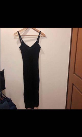 針織開衩洋裝