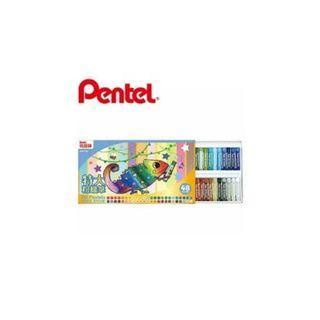 飛龍PENTEL GHT2-48 特大粉蠟筆48色組