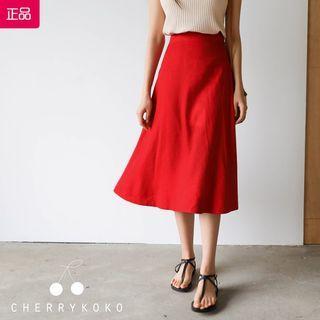 全新轉賣 原價1000 CHERRYKOKO CRKO 正韓 俏皮可愛活潑紅色長裙