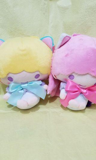 Sanrio Little Twins Star 全新景品 2隻 包平郵