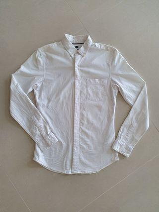 Topman Muscle Fit Oxford Shirt White size S