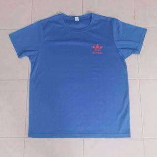 Blue Unisex dri fit Top