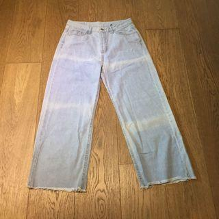 Light Blue Denim Pants Jeans 淺藍色牛仔褲