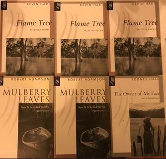 Australian poetry books x 6 - $0 - only pay for post