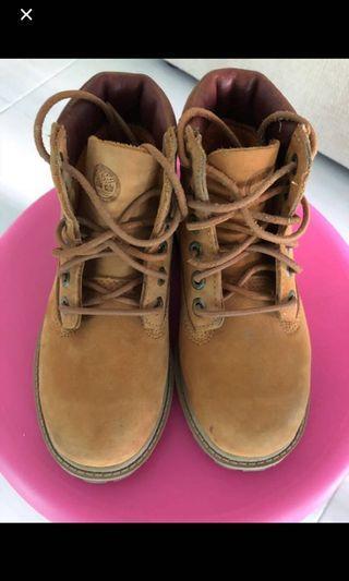 Timberland kids / toddler yellow boots