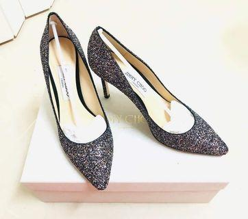 JIMMY CHOO Romy 85 multi glitter pumps  Bling Bling閃閃經典亮片高跟鞋